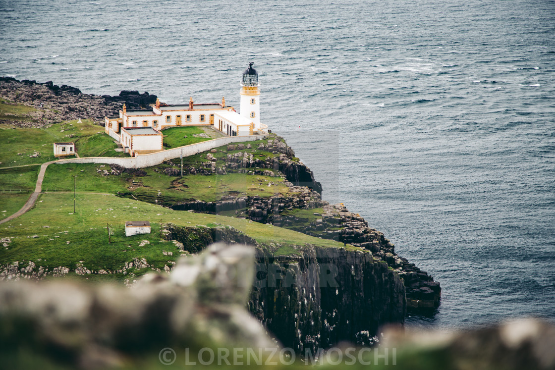 """A beautiful of Neist Point Lighthouse"" stock image"