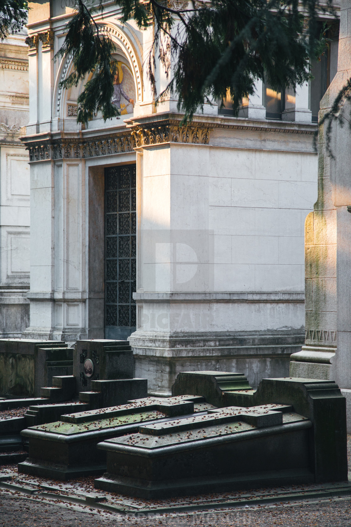 """Monumental Cemetery in Milan"" stock image"