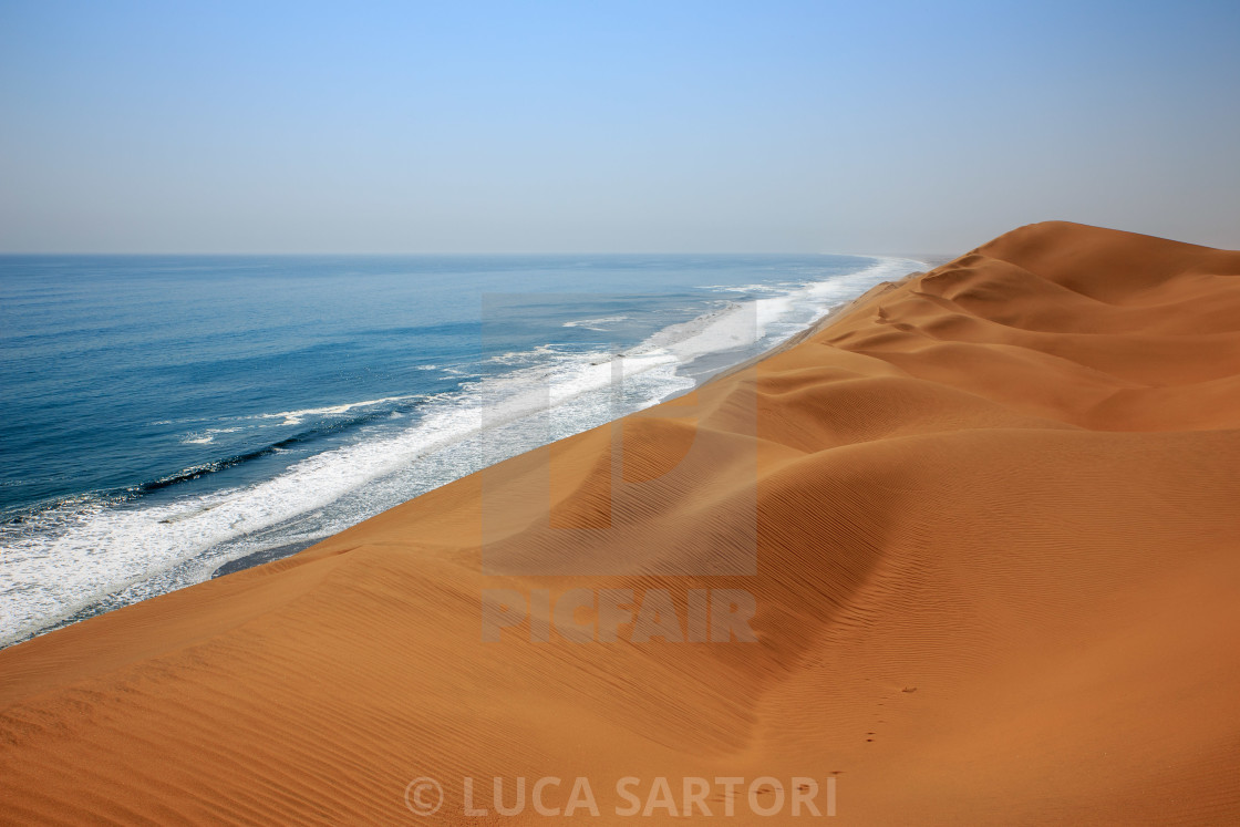 """Namibia - Sandwich Harbour"" stock image"