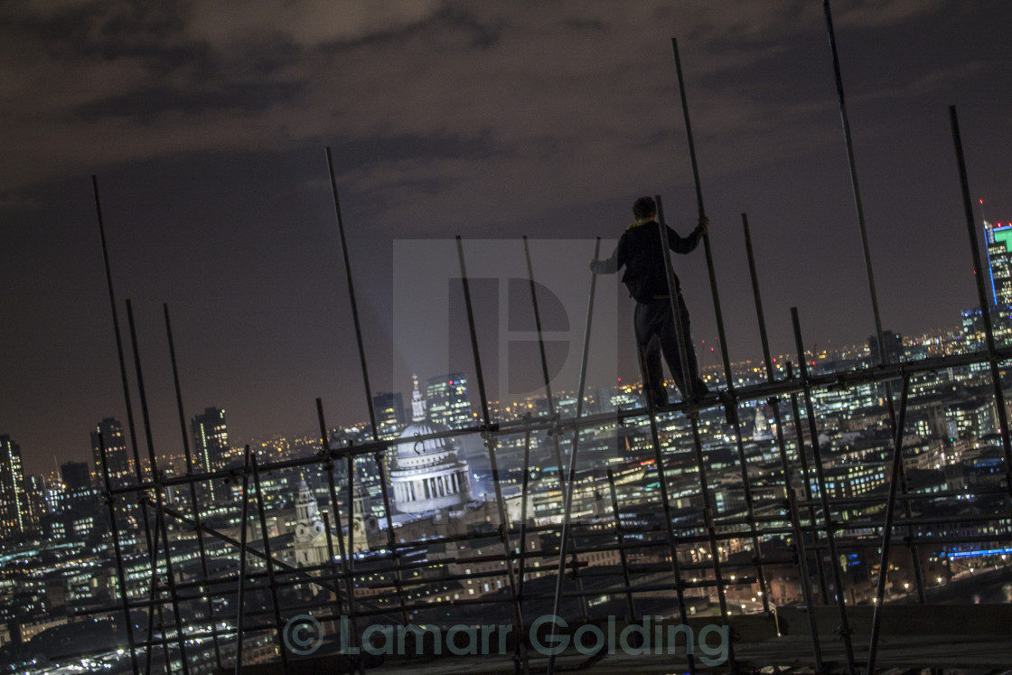 """ABOVE THE CITY"" stock image"