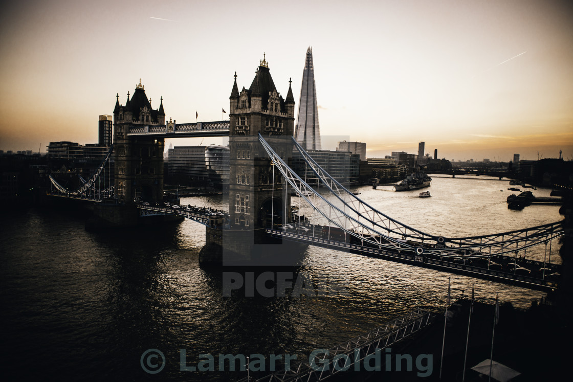 """TOWER BRIDGE VIBES"" stock image"