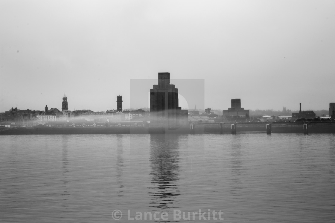 """View from Albert Dock"" stock image"