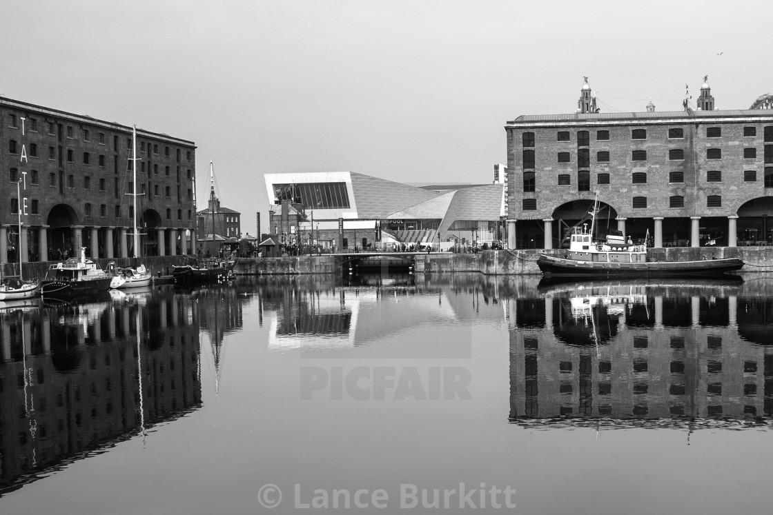 """Albert Dock and Museum"" stock image"