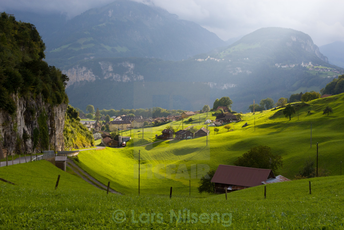"""""""Alps in afternoon sun"""" stock image"""