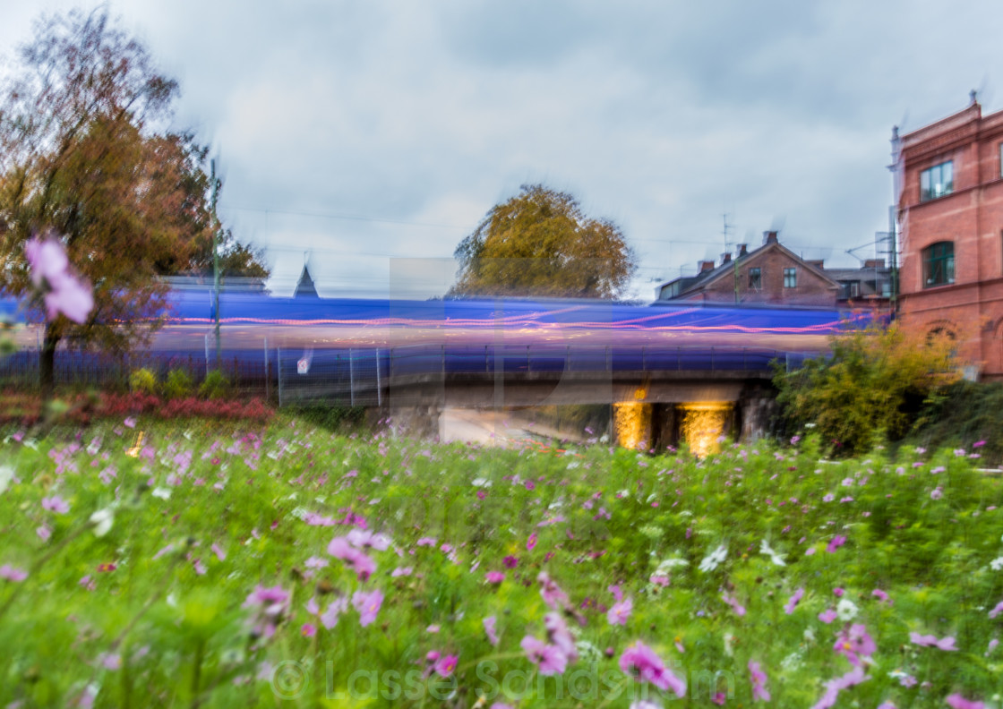 """blurred train"" stock image"