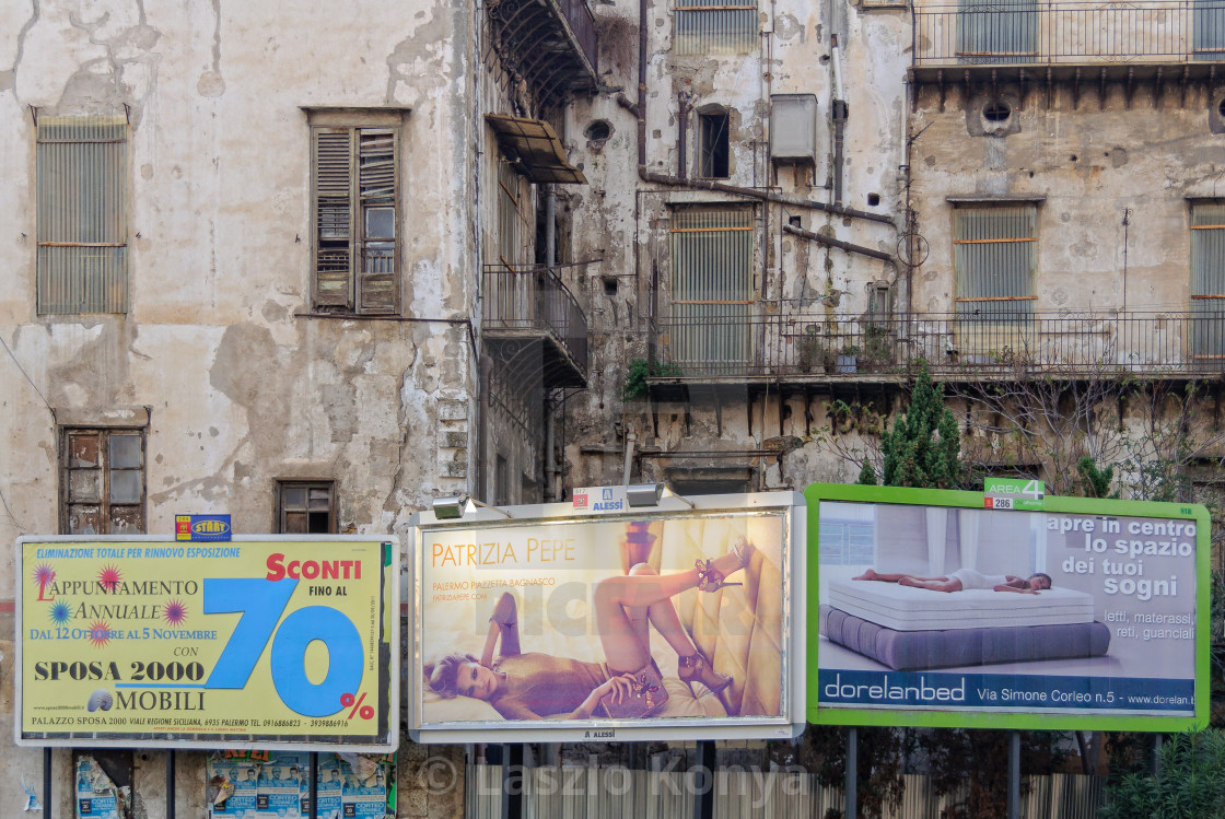 Contrast and Consumerism - Palermo - License, download or print for ...