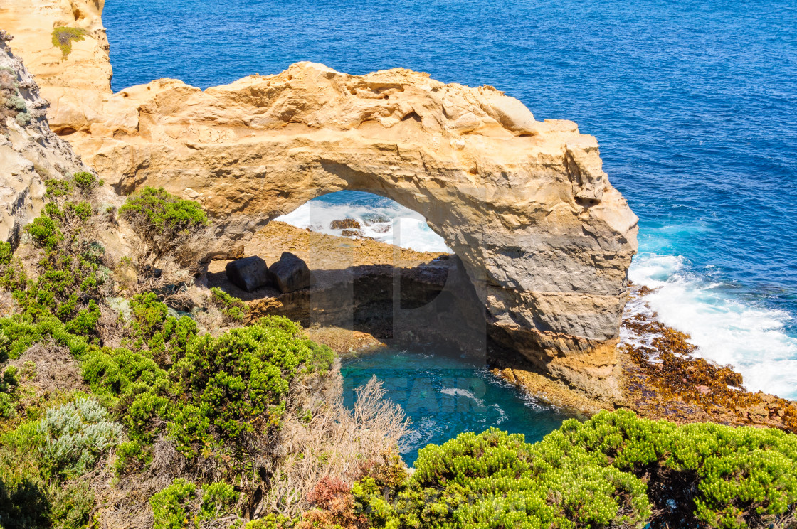 """""""The Arch - Port Campbell"""" stock image"""