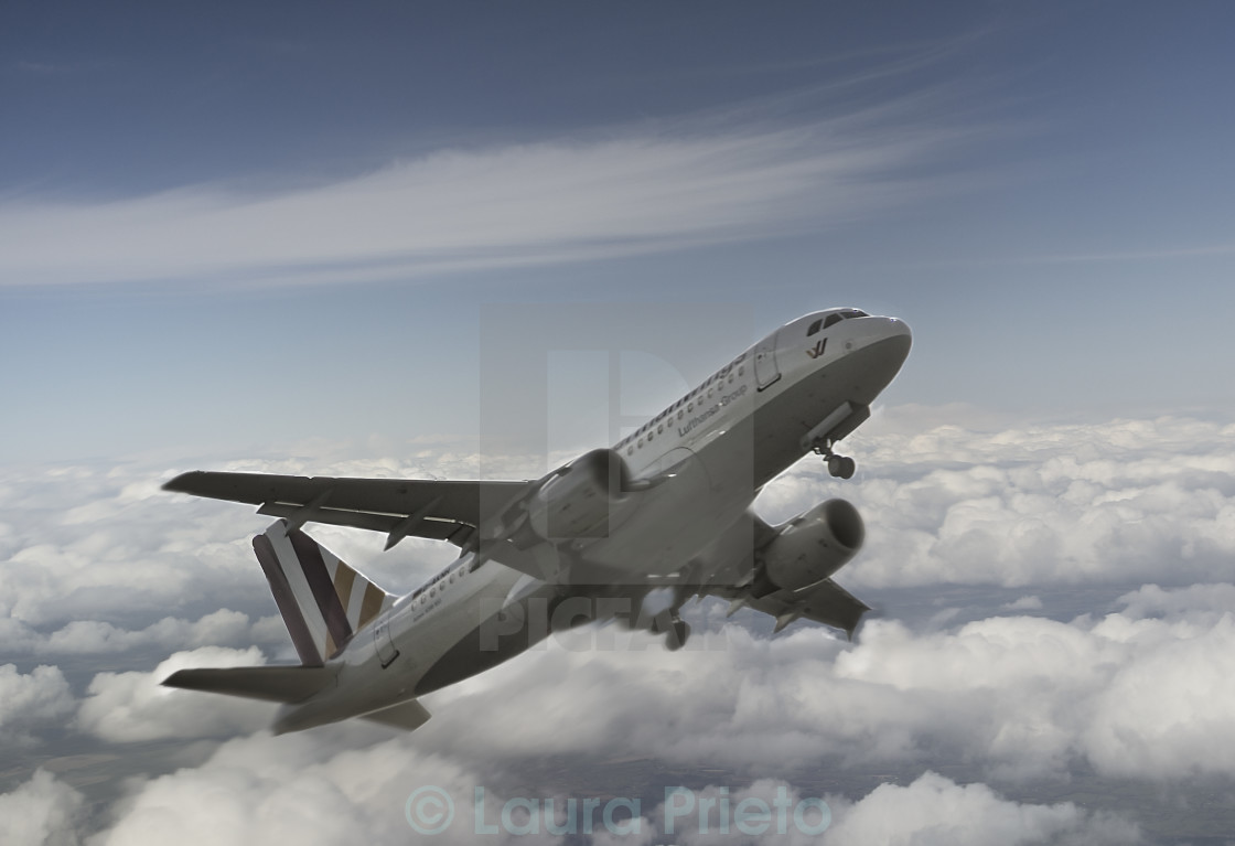 """Fly above the clouds"" stock image"