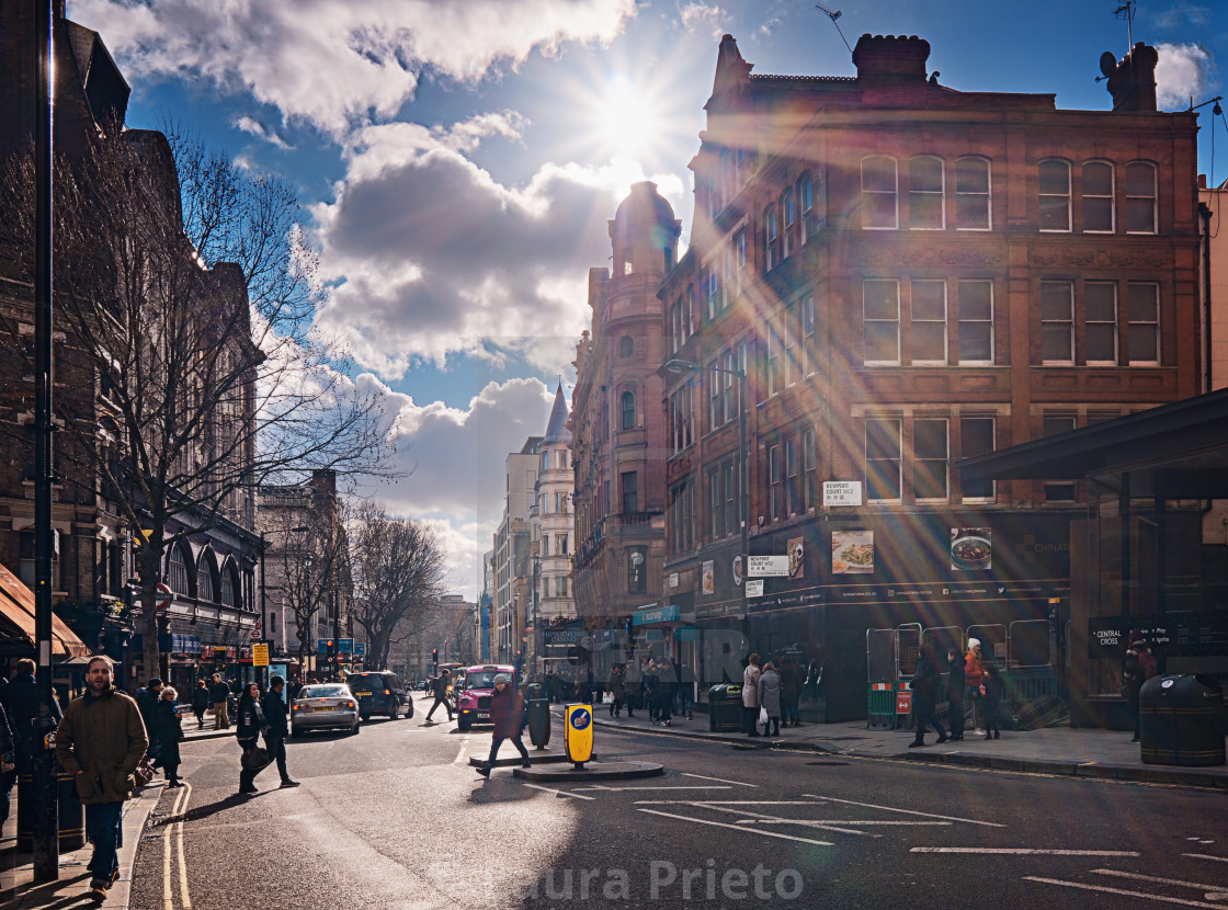 """Sunshine in London"" stock image"