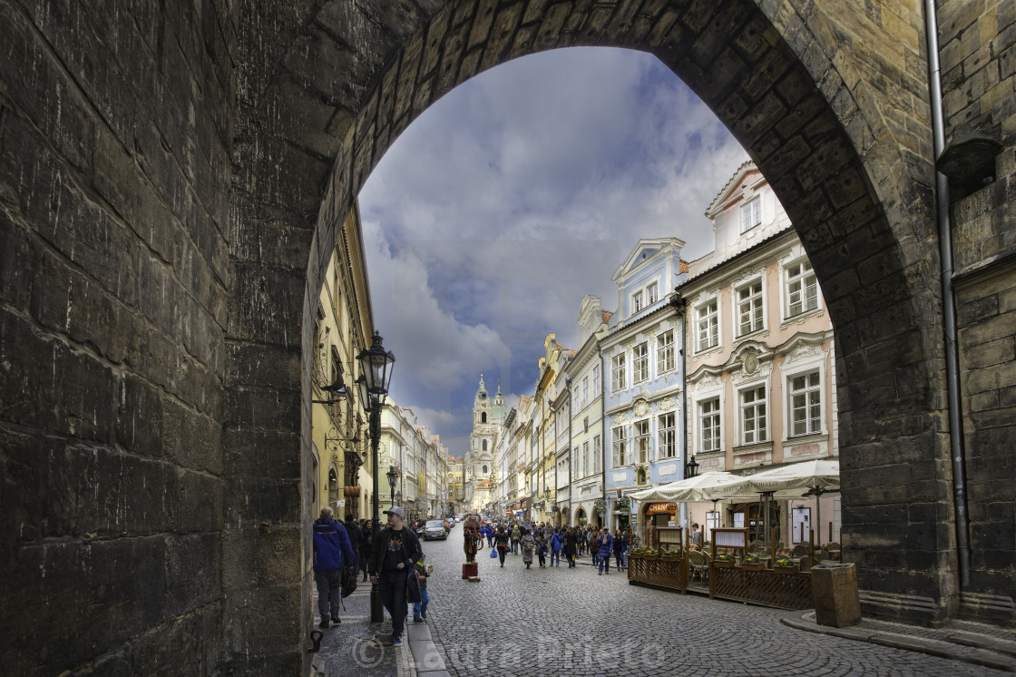 """Lesser Town in Prague"" stock image"