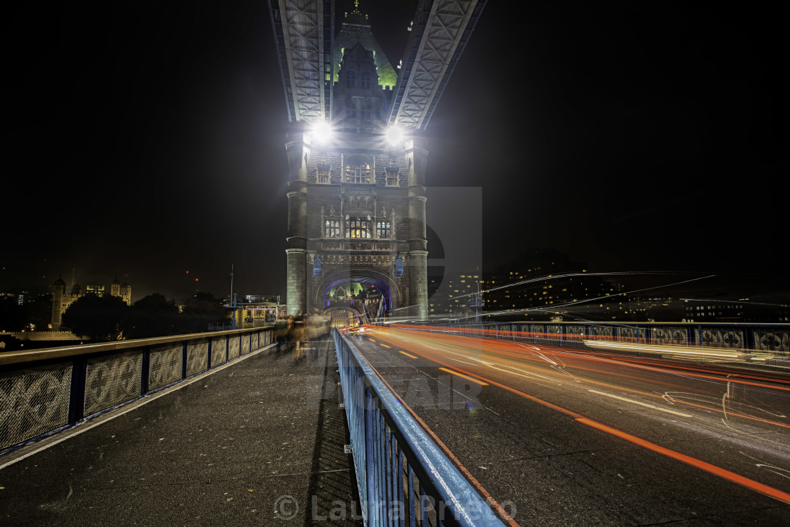 """Cars on Tower Bridge"" stock image"