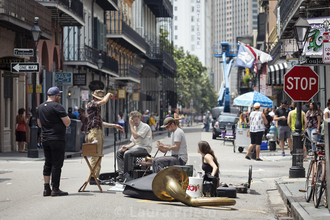 """Royal Street Musicians"" stock image"