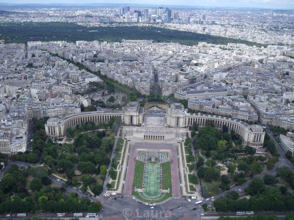 """View from Eiffel Tower"" stock image"