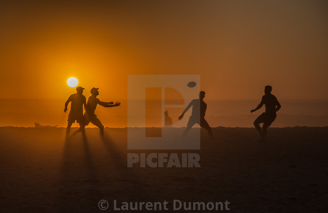 """Beach rugby in Cape Town"" stock image"