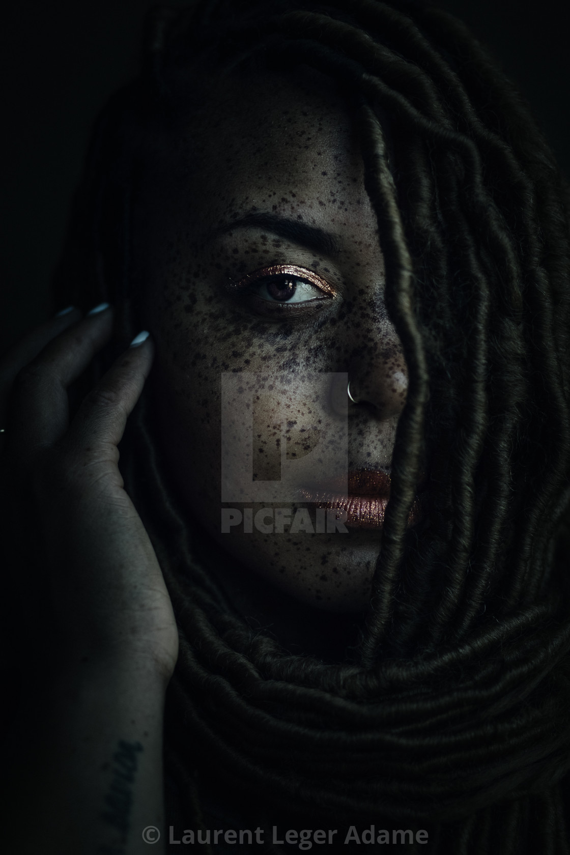 """Freckles"" stock image"
