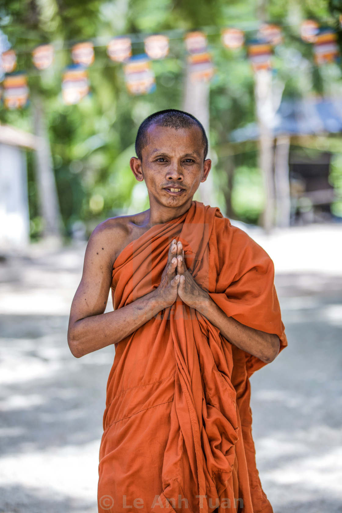 """""""The monk"""" stock image"""