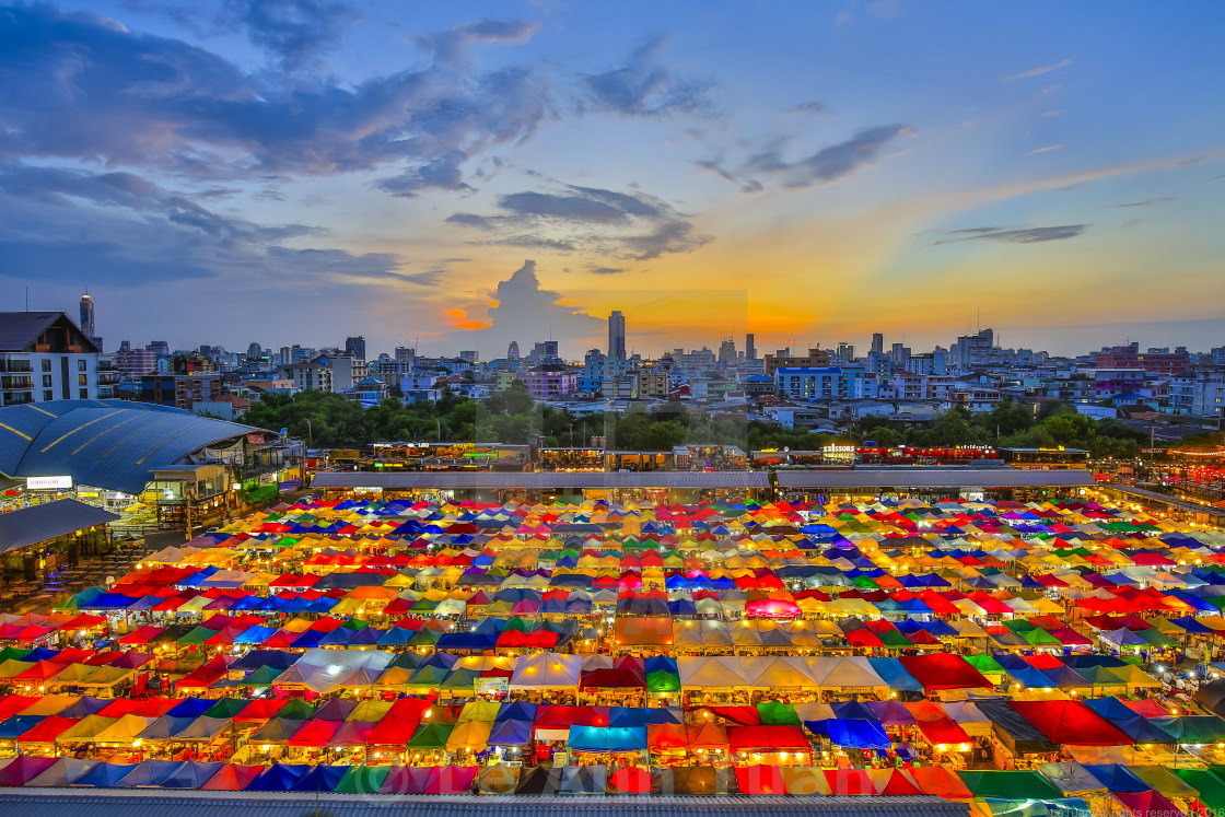 """Night market in Thailand"" stock image"