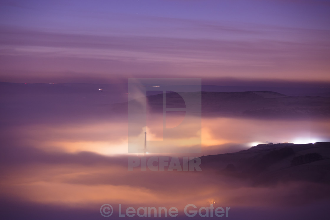 """Hope Valley in Fog"" stock image"
