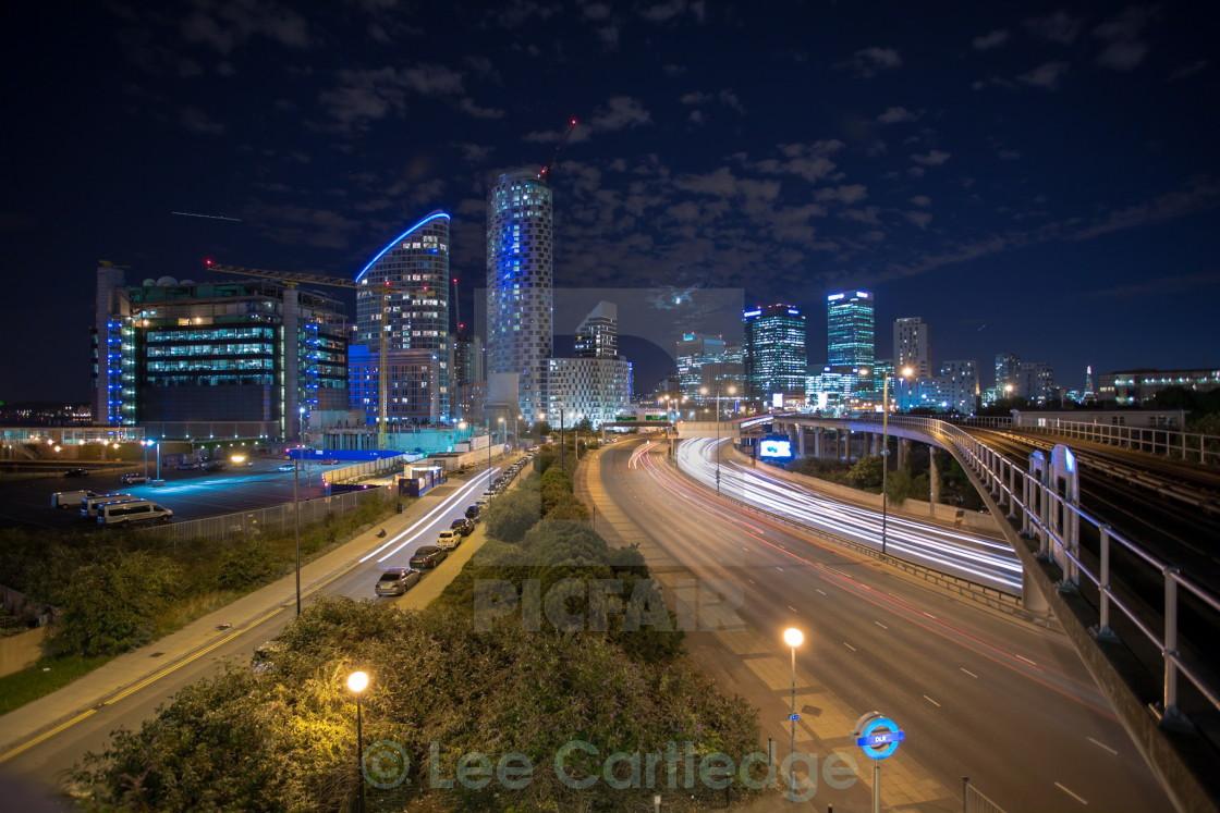 """City lights"" stock image"