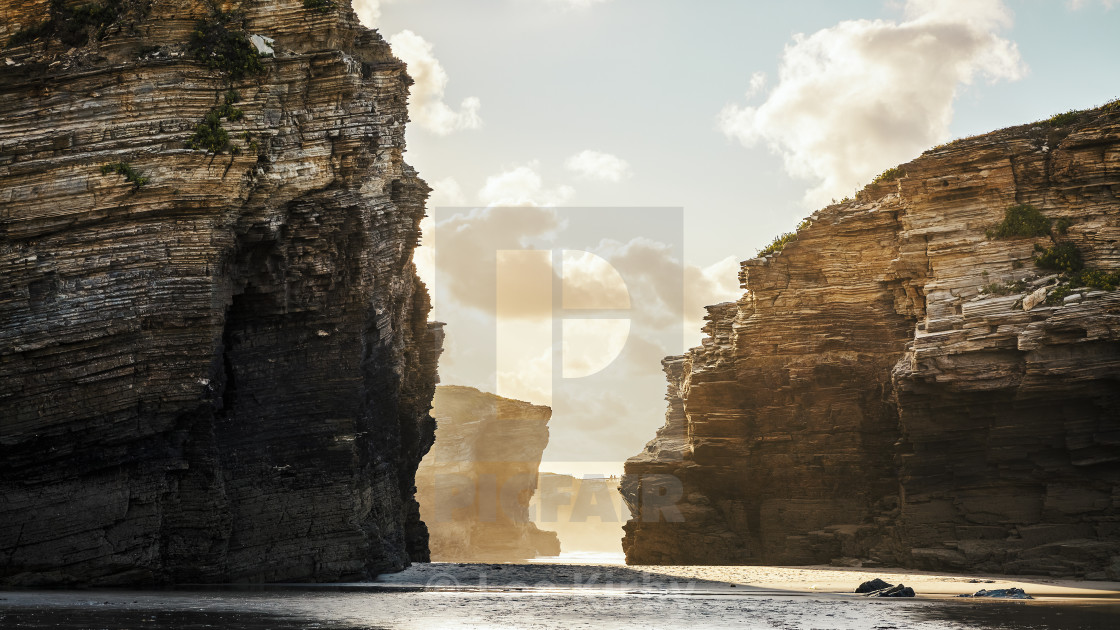 """As Catedrais beach Galicia Spain"" stock image"