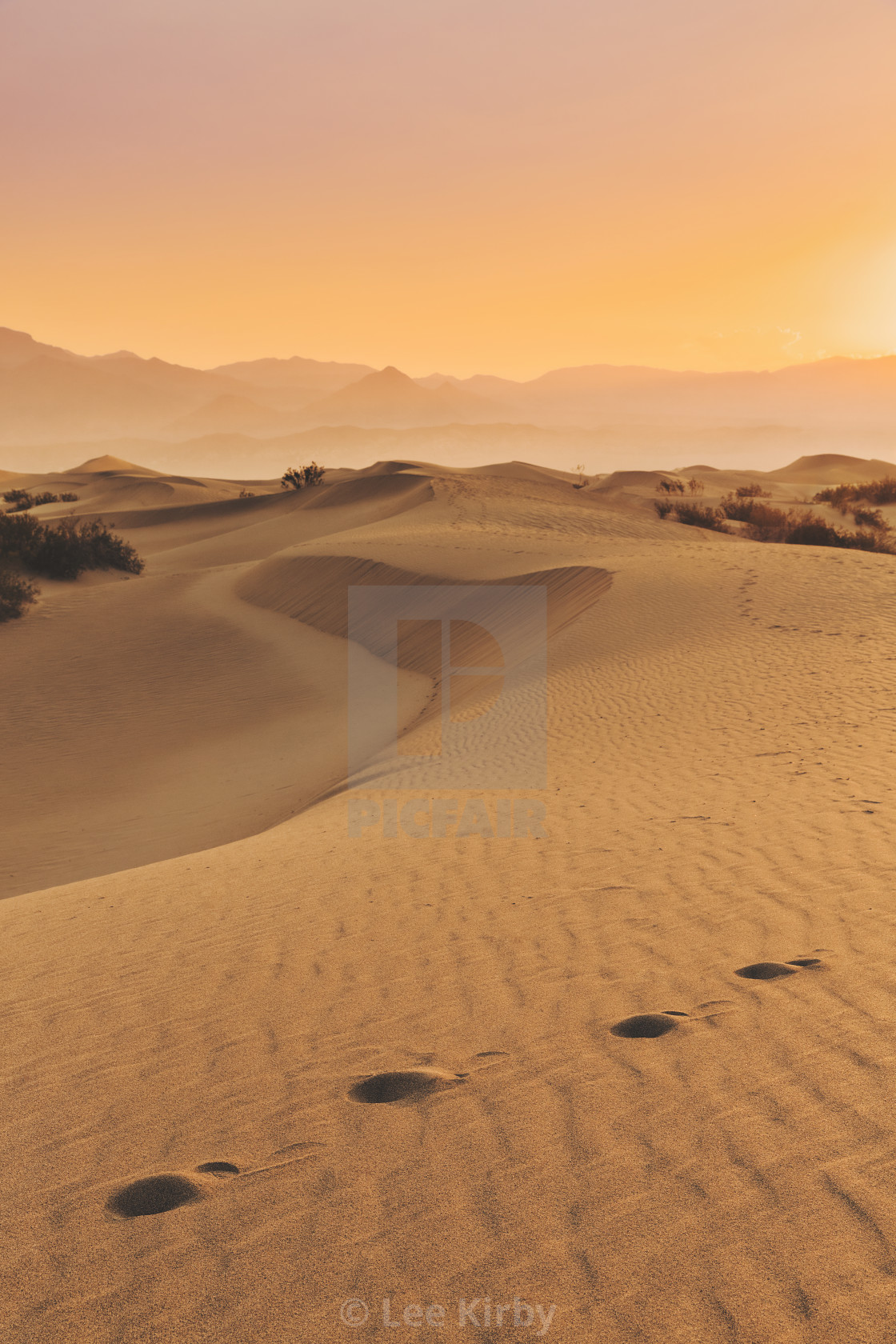 """Misquite Dunes Death Valley"" stock image"