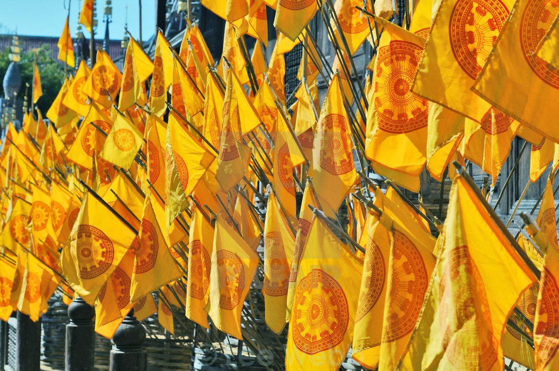 """Buddhist Flags"" stock image"