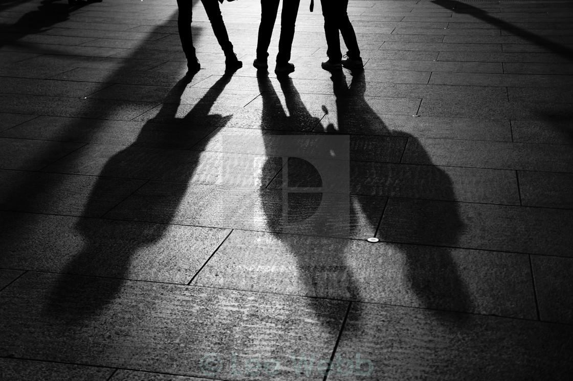 """Street Shadows"" stock image"
