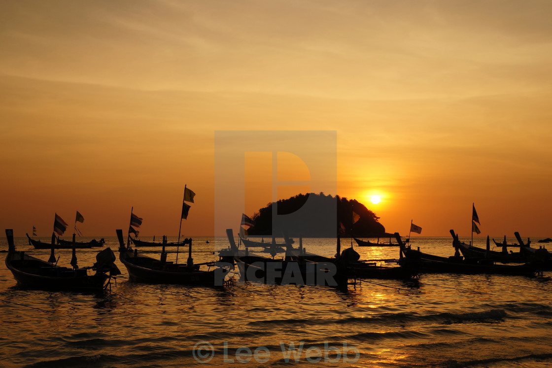 """Sunset Phuket"" stock image"