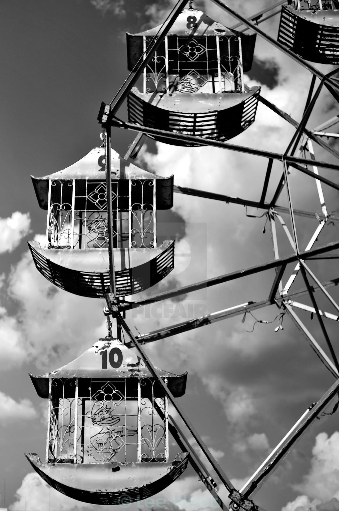 """Monochrome Ferris Wheel"" stock image"
