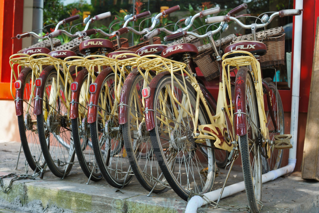 """Chinese Bicycles"" stock image"