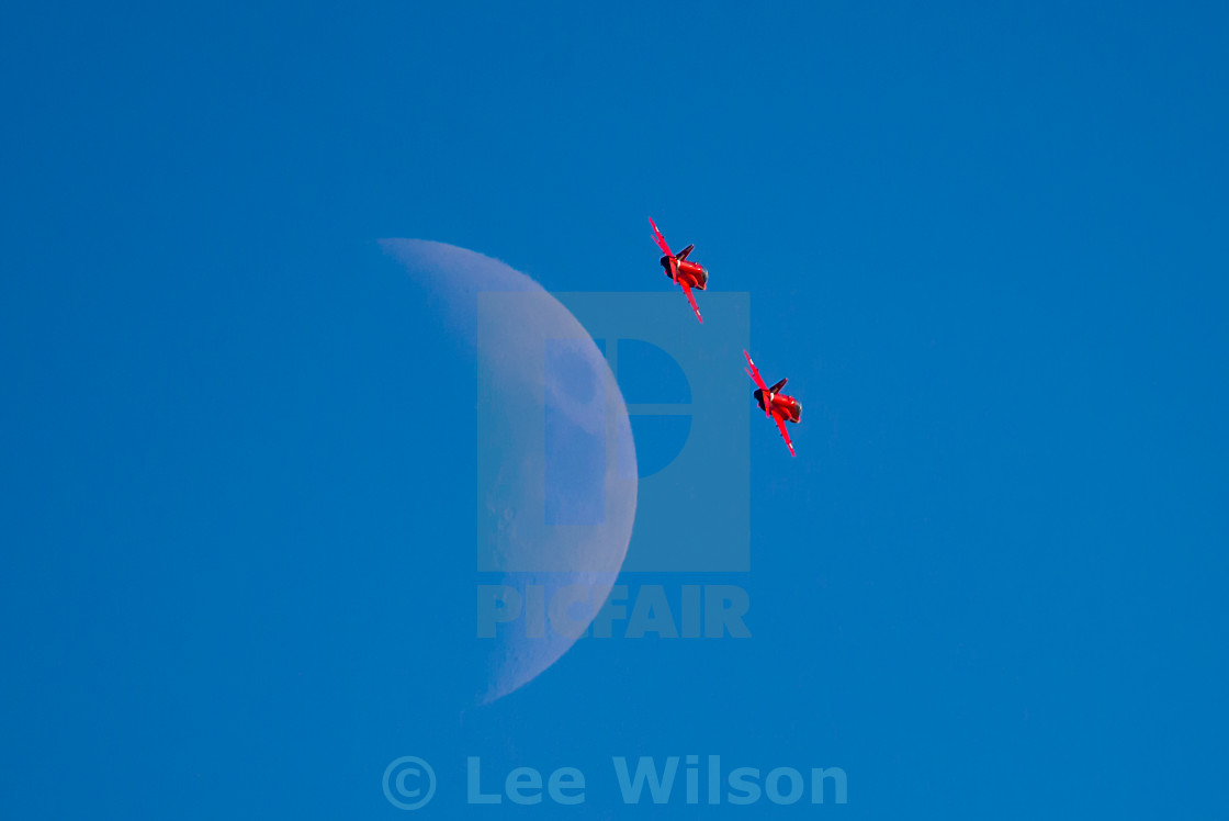 """Red Arrows Moon"" stock image"