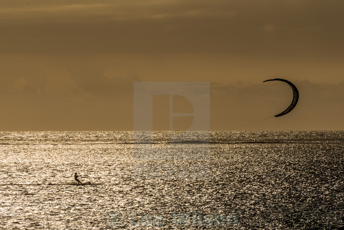 """Golden Kite Surfing"" stock image"