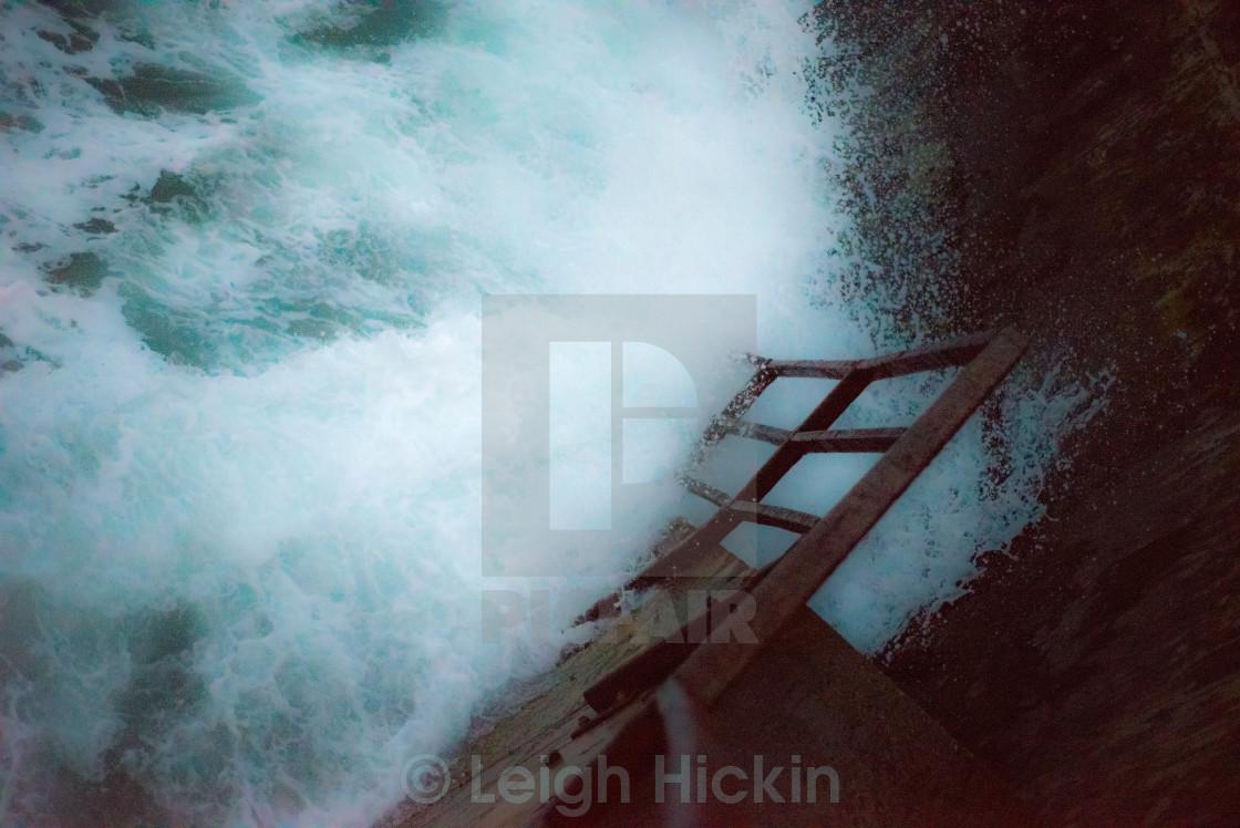 """The Breaking Sea"" stock image"