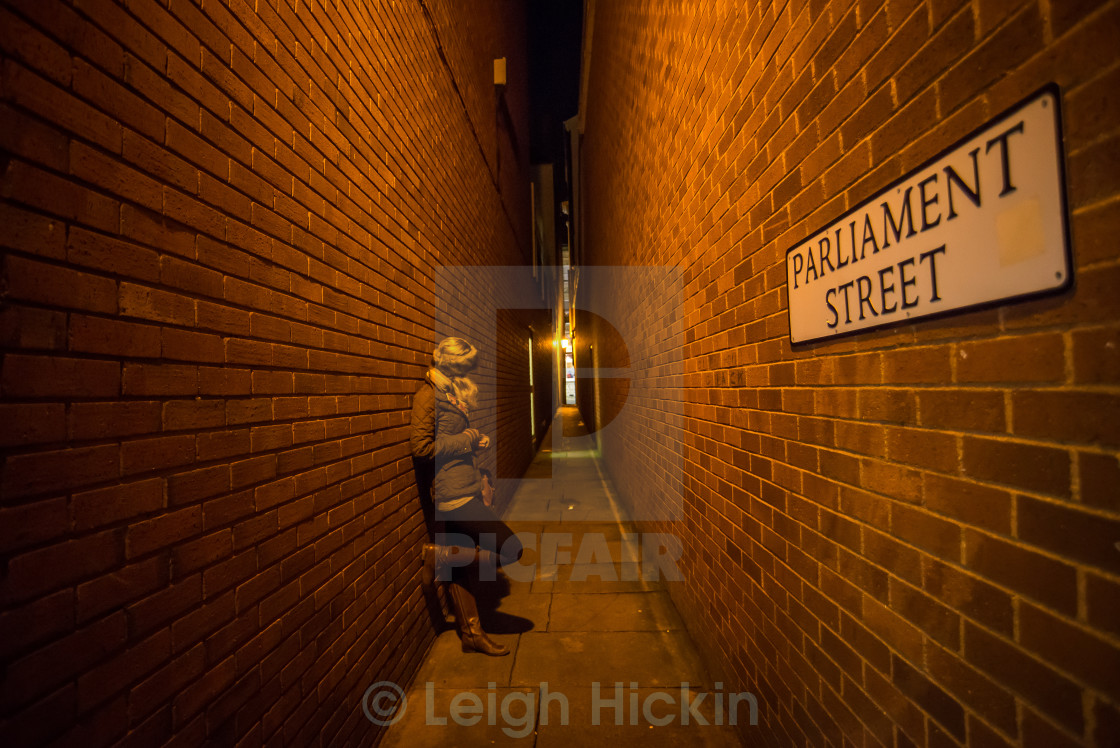 """""""Back Alley Amber"""" stock image"""