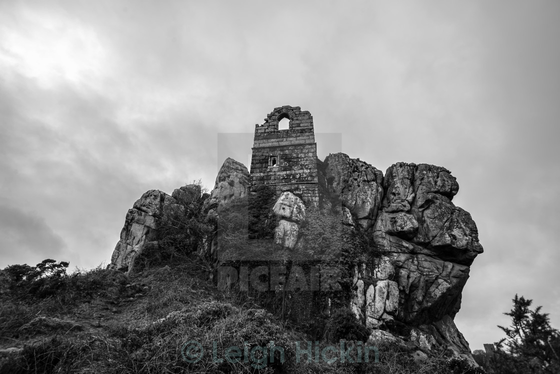 """""""Ruins on the Rock"""" stock image"""