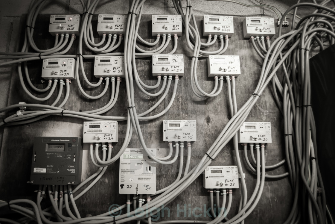 """""""Cables and Chaos"""" stock image"""