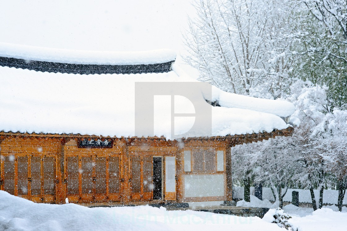 """Winter Korean House"" stock image"