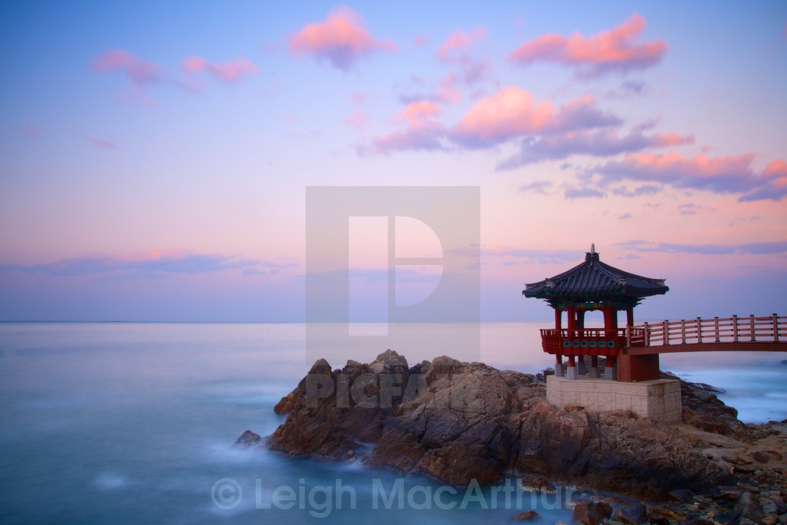 """Korean Gazebo Sunset"" stock image"