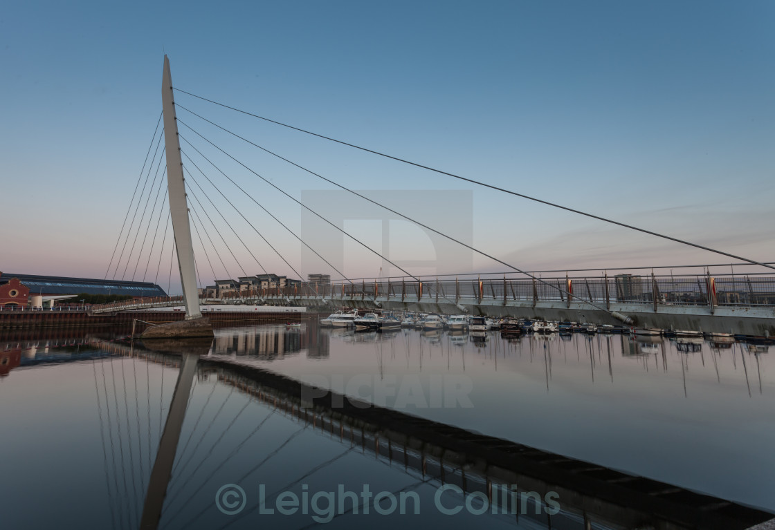 """Sail bridge Swansea"" stock image"