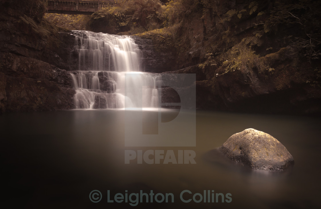 """Waterfall country Wales"" stock image"