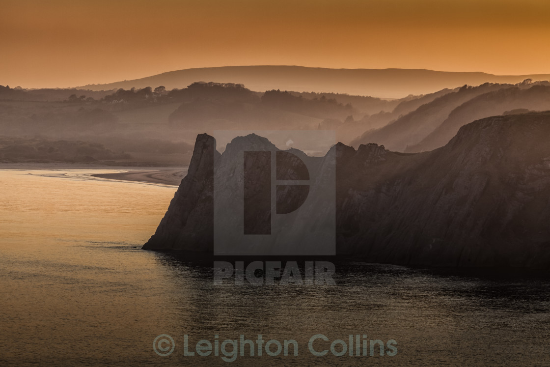 """The Great Tor in South Gower"" stock image"