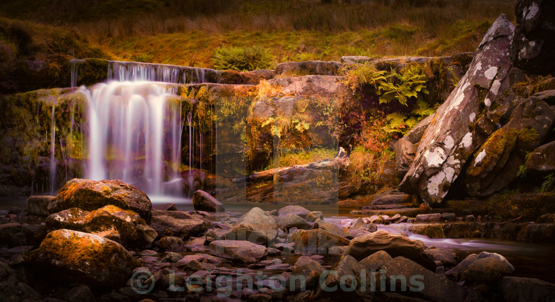 """Pen-y-fan waterfall"" stock image"