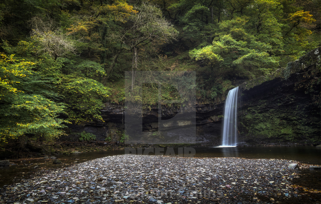 """""""Sgwd Gwladus in Waterfall Country"""" stock image"""