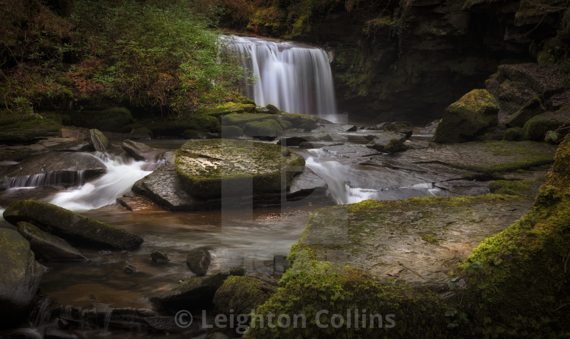 """Cwmdu waterfall"" stock image"