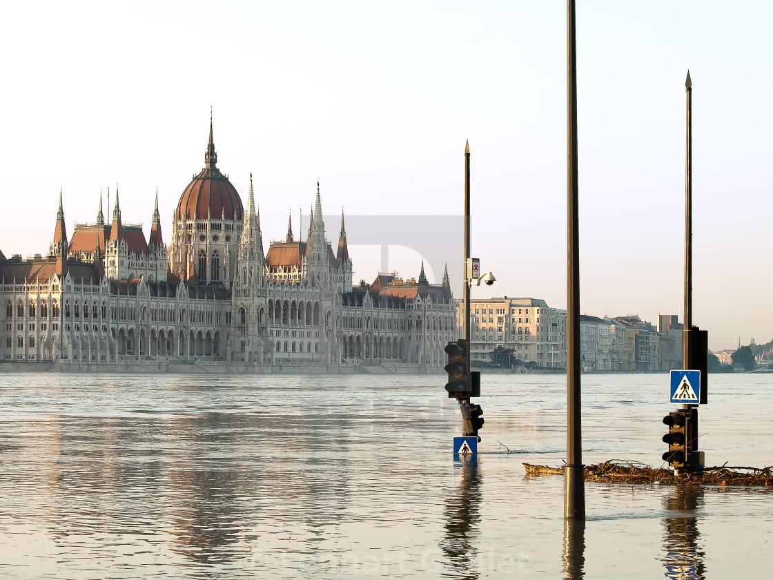 """""""Budapest Flood 2013"""" stock image"""