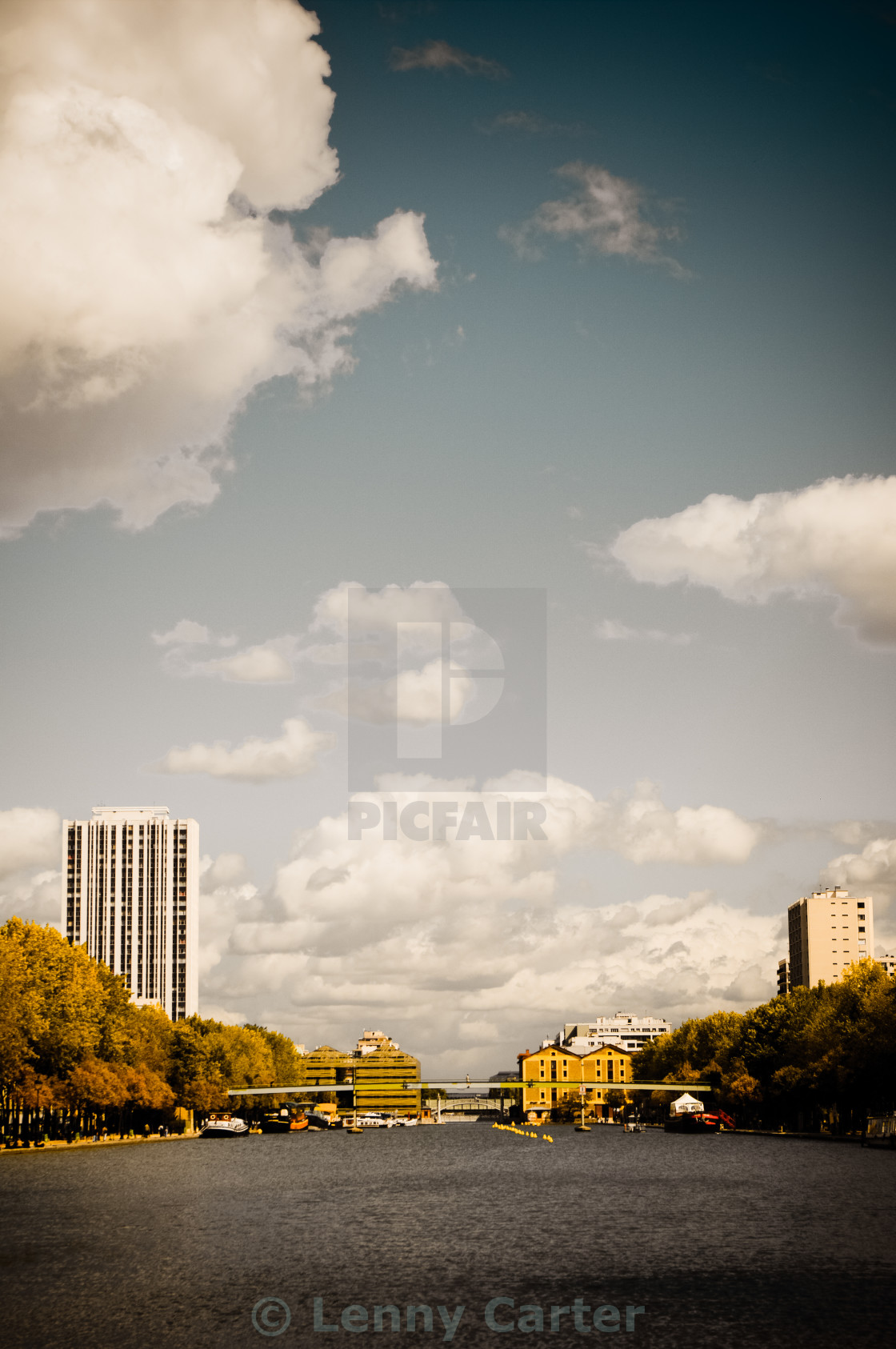 """Paris suburbs water body"" stock image"