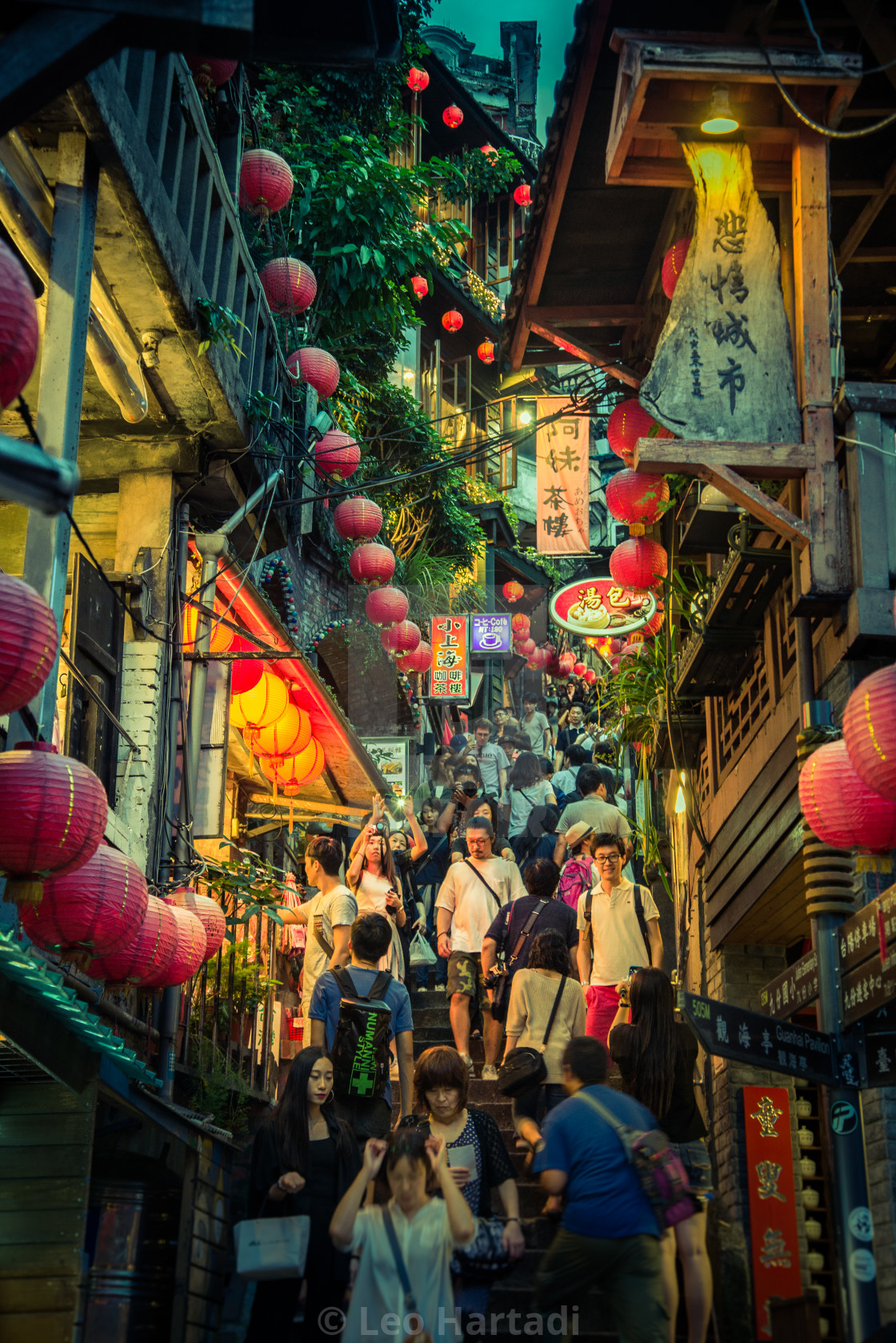 """Jiu Fen Shopping Street"" stock image"