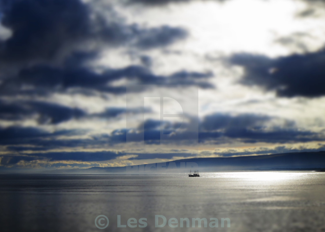 """Fishing Boat On Lough Foyle"" stock image"