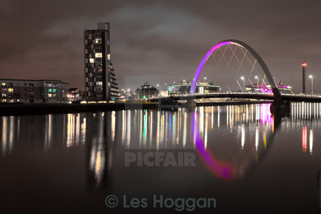"""Squinty Bridge, Glasgow"" stock image"