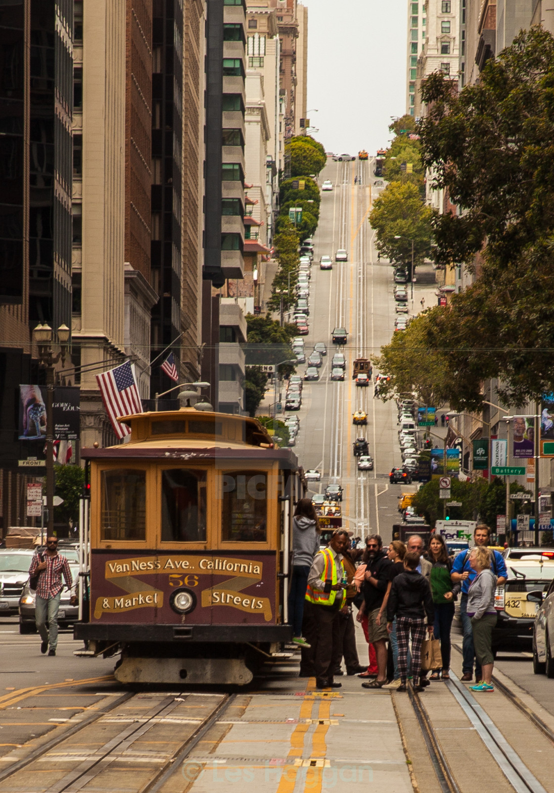 """California Street, San Francisco"" stock image"